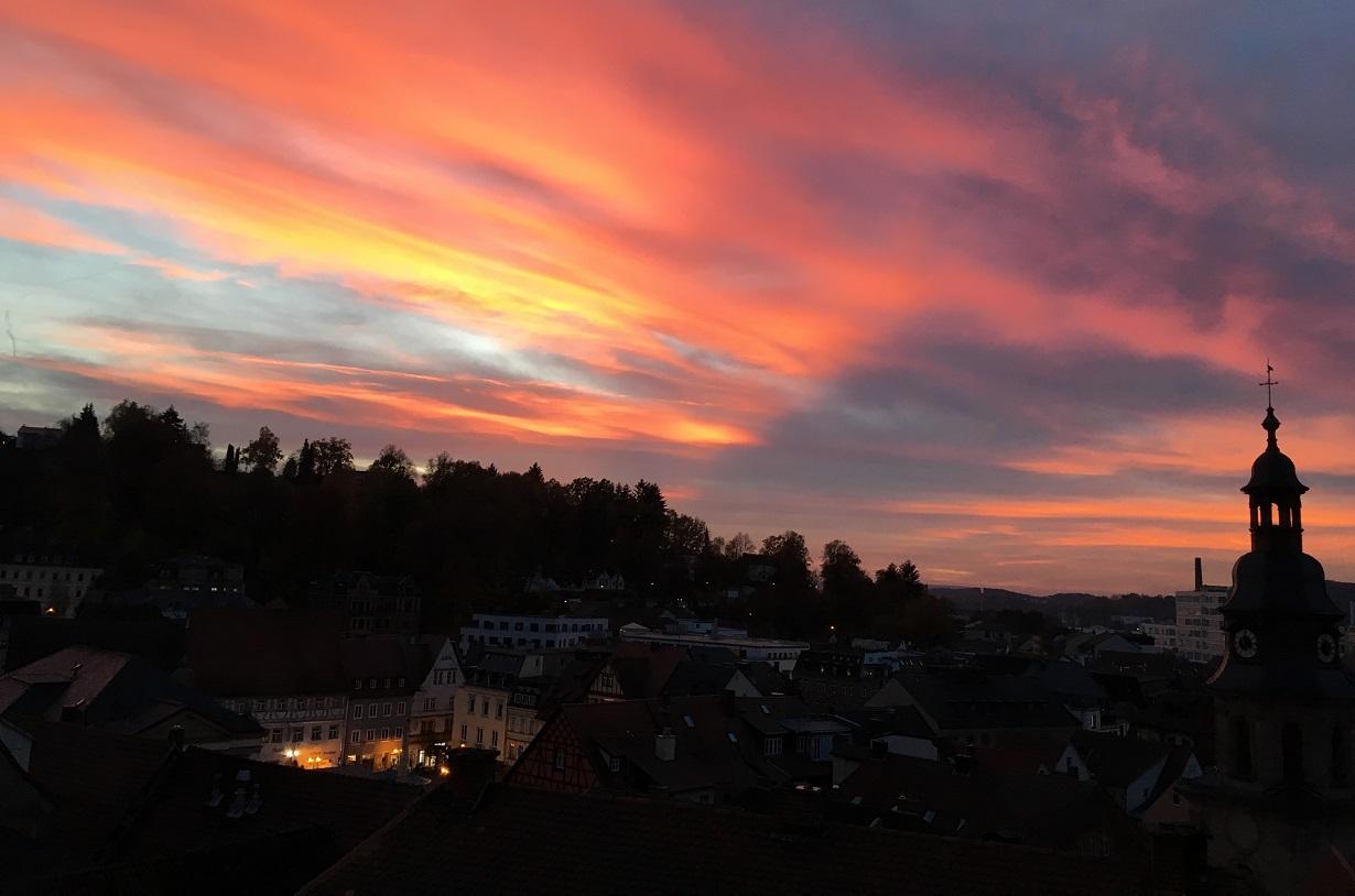 Kulmbach Sonnenuntergang